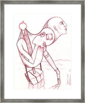 Struggle Within Framed Print by Chris Bradley