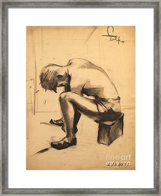 Struggling With The Job - 1941 Framed Print by Art By Tolpo Collection