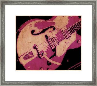 Strum In Pink Framed Print