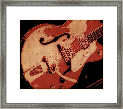 Strum In Red Framed Print