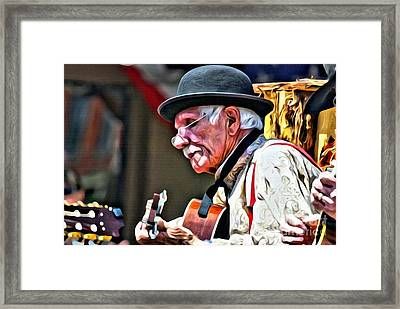 Strumming Framed Print
