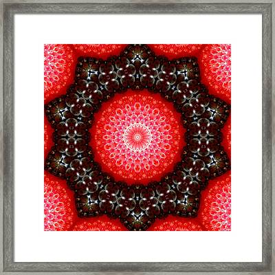 Strawberries And Blackberries Framed Print by Scott Kingery