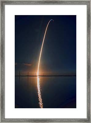 Sts-131 Launch Framed Print