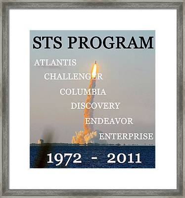 Sts Program Space Shuttles Framed Print by David Lee Thompson