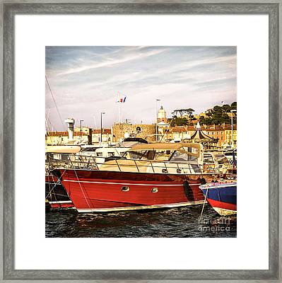 St.tropez Harbor Framed Print by Elena Elisseeva