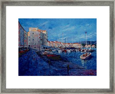 St.tropez  - Port -   France Framed Print by Miroslav Stojkovic - Miro