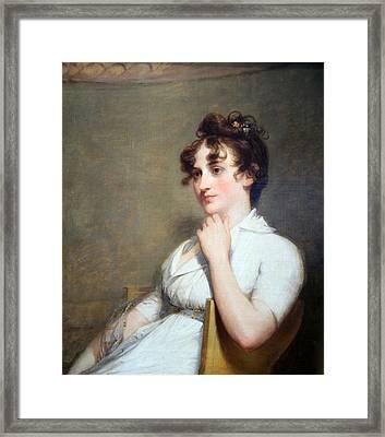 Stuart's Eleanor Parke Custis Lewis Or Mrs. Lawrence Lewis Framed Print