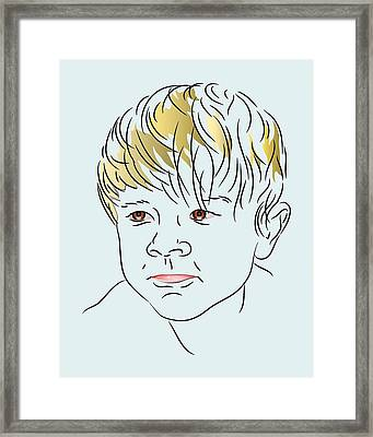Stubborn Boy Framed Print