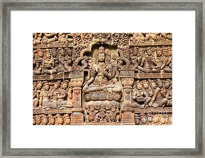 Stucco Thai Art Framed Print