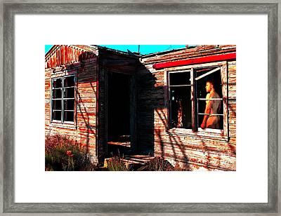 Stuck In Pecos Framed Print