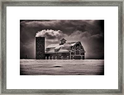 Stuck In The Cold Framed Print