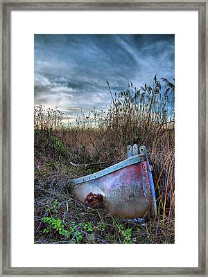Stuck In The Marsh Framed Print by Michael  Ayers