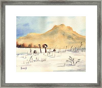 Stuck In The Snow Framed Print by Sam Sidders