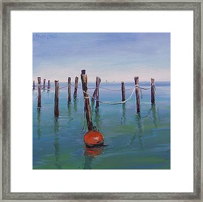 Stuck In The Water Framed Print by Dianna Poindexter