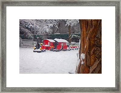 Stuck Train Framed Print by Richie Stewart