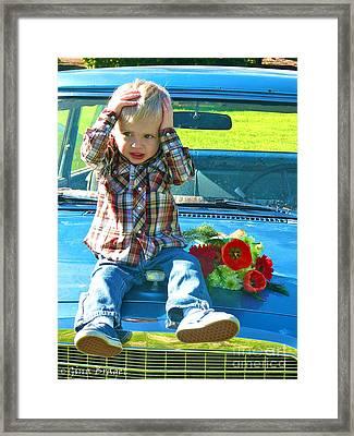 Studabaker. Not Another Valentine's Day.  Framed Print by Gina Braget