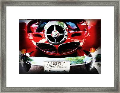 Studebaker Shines Framed Print by Toni Hopper