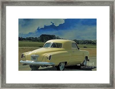 Studebaker Starlight Coupe Framed Print by Janette Boyd