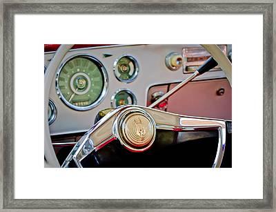 Studebaker Steering Wheel Framed Print by Jill Reger