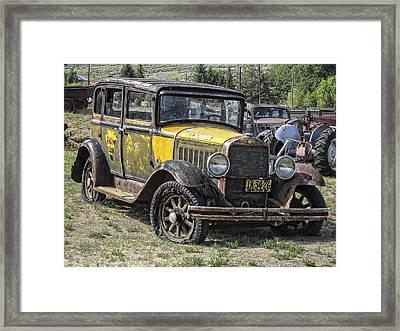 Studebaker Taxi Cab C. 1927 Framed Print by Daniel Hagerman