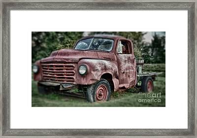 Studebaker Truck Framed Print by Baltzgar