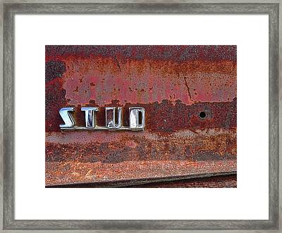 Studebaker Truck Side Panel Emblem  1940s Framed Print by Daniel Hagerman