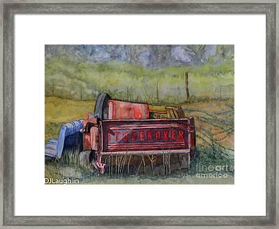 Studebaker Truck Tailgate Framed Print by DJ Laughlin