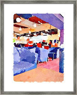 Student Cafeteria In Hong Kong University  Framed Print by Yury Malkov
