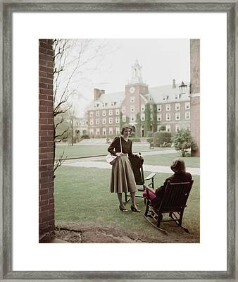 Student Gloria Rivers Of Smith College On Campus Framed Print
