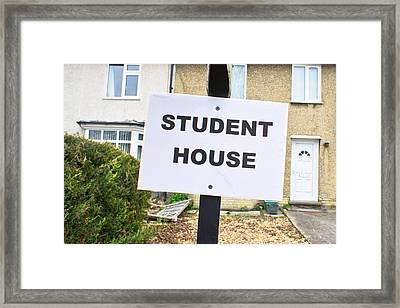 Student House Framed Print