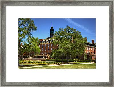Student Union At Oklahoma State Framed Print by Ricky Barnard