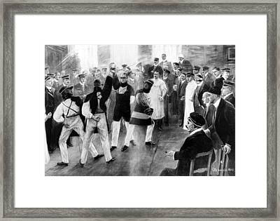 Students Dueling, 1911 Framed Print by Granger