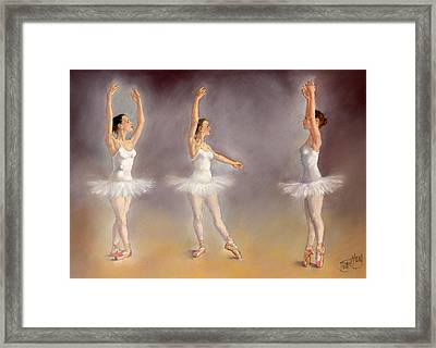 Studies Of A Ballet Dancer Framed Print by Margaret Merry