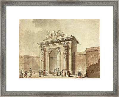 Studio Of Claude Nicolas Ledoux, Portal Of The Hôtel Duzès Framed Print by Litz Collection