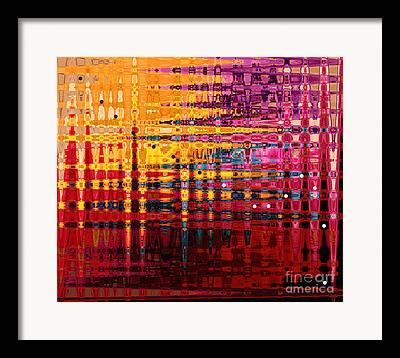 Pixel Stretching Framed Prints