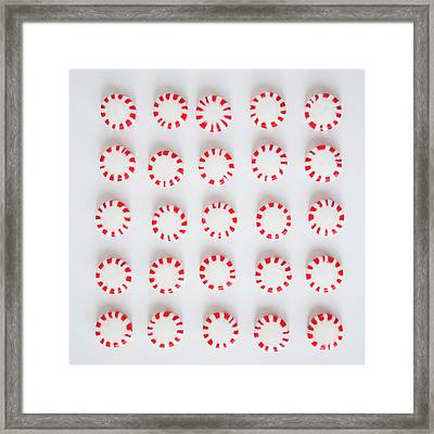 Studio Shot Of Rows Of Peppermint Framed Print by Jessica Peterson