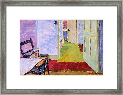 Studio Space, Ivor Street, Nw1 Oil On Canvas Framed Print by Brenda Brin Booker