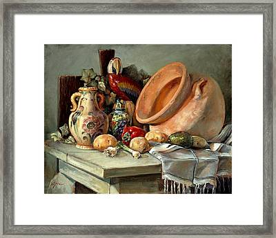 Studio Still Life Framed Print by Gini Heywood