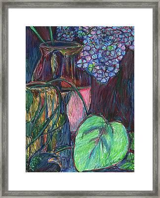 Studio Still Life Framed Print by Kendall Kessler