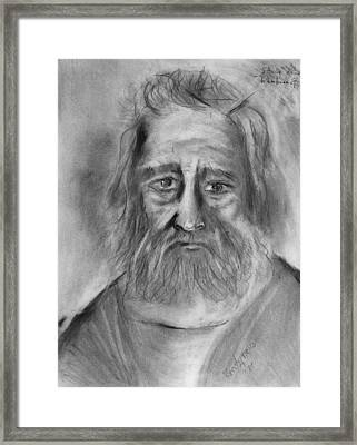 Study After Rembrandt  Framed Print by Kenneth Agnello