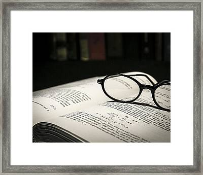 Study Break Framed Print by Jeff Burton