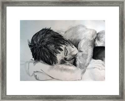Study Framed Print by Corina Bishop