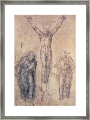 Study For A Crucifixion Framed Print