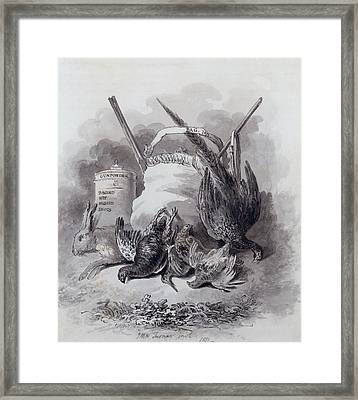Study For A Game Book, 1811 Framed Print by Joseph Mallord William Turner