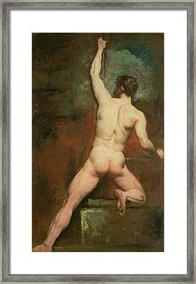 Study For A Male Nude Framed Print by William Etty