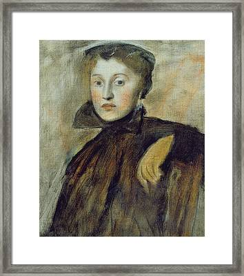 Study For A Portrait Of A Lady Framed Print by Edgar Degas
