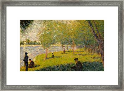 Study For A Sunday On La Grande Jatte Framed Print by Georges Seurat