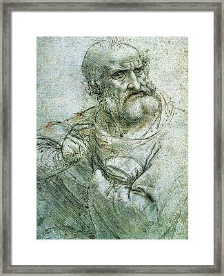 Study For An Apostle From The Last Supper Framed Print
