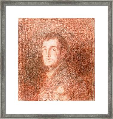 Study For An Equestrian Portrait Of The Duke Of Wellington 1769-1852 C.1812  Framed Print