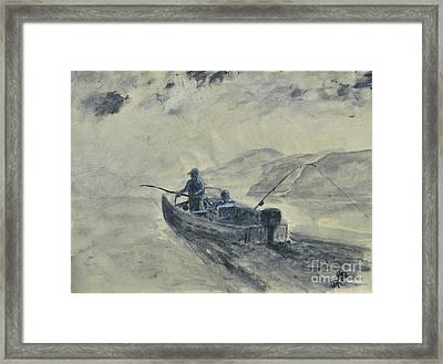 Study For Early Morning Blue Mesa Framed Print by Dana Carroll